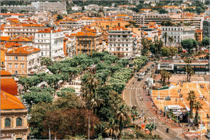 Premium poster Aerial View Of Downtown City Of Cannes