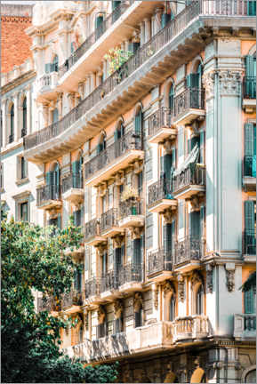 Premium poster Facades in Barcelona, Spain