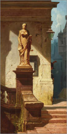 Premium poster  The eye of the law (Justitia) - Carl Spitzweg