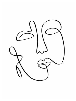 Canvas print  Face of Muse - Art Couture