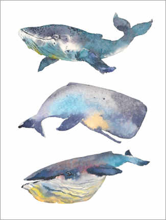 Wood print  Whales - Kidz Collection