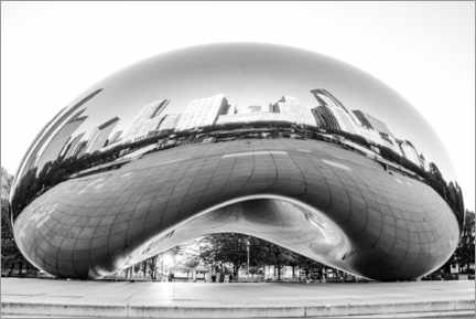Canvas print  Chicago Cloud Gate, black and white - HADYPHOTO
