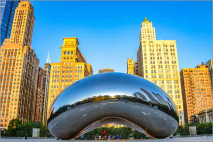 Premium poster  Cloud Gate, Chicago - HADYPHOTO