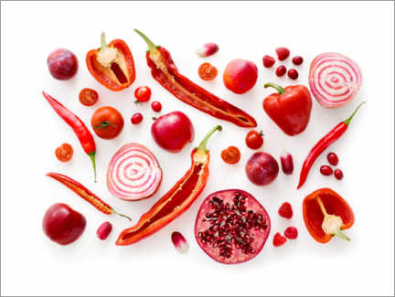 Canvas print  Fresh red fruits and vegetables