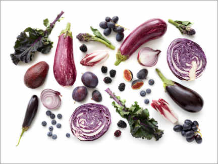 Premium poster Fresh fruits and vegetables