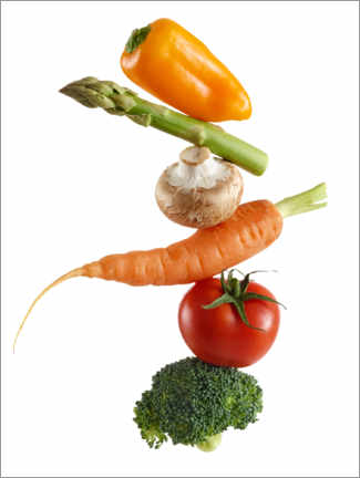 Premium poster Stack of fresh vegetables