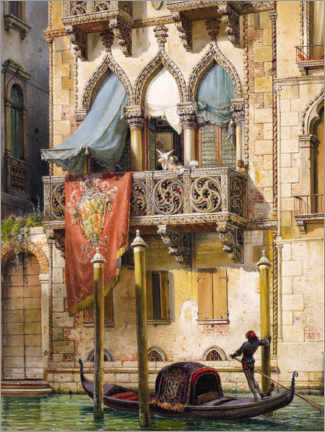 Acrylic print  Palazzo Contarini in Venice (House of the Desdemona) - Friedrich Nerly