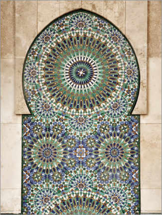Wood print  Decorative, Moroccan mosaic - Art Couture