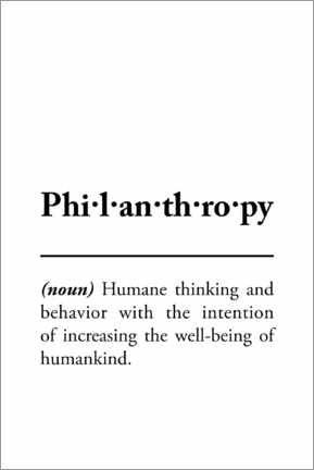 Gallery print  Philanthropy - definition - Typobox