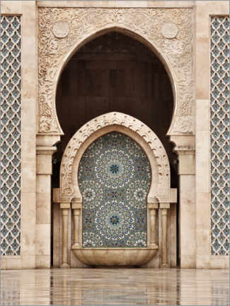 Wood print  Hassan II Mosque, Casablanca, Morocco - Art Couture