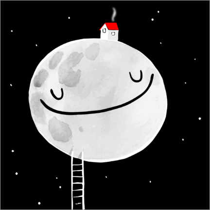 Wall sticker A House On The Moon