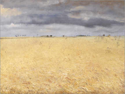 Premium poster  A rye field - Laurits Andersen Ring