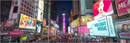 Acrylic print  Times Square Panorama - Jan Christopher Becke
