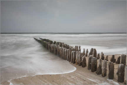 Premium poster Mystical groyne on Sylt