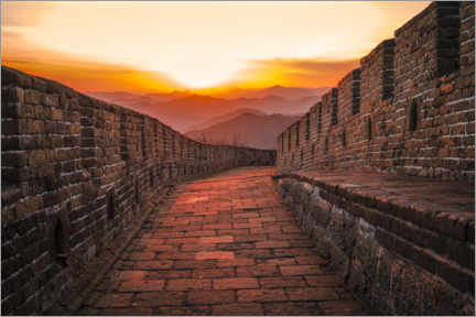 Premium poster The Great Wall at the sunset