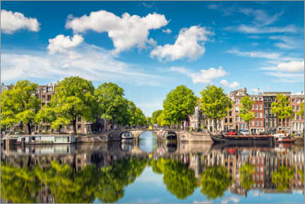 Acrylic print  Sunny day in Amsterdam, Holland - George Pachantouris