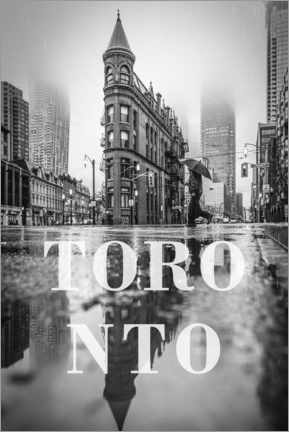Canvas print  Cities in the rain: Toronto - Christian Müringer