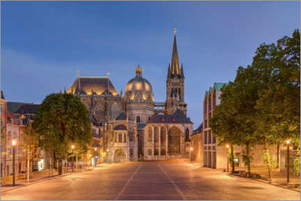Wall sticker  Aachen Cathedral in the evening - Michael Valjak