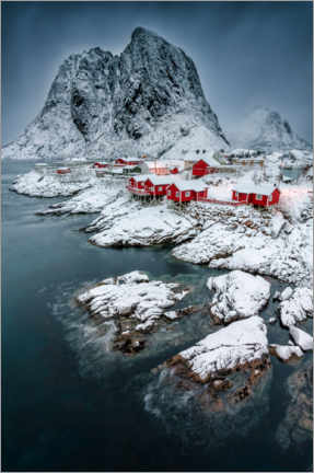 Wood print  Picturesque Hamnoy - André Wandrei