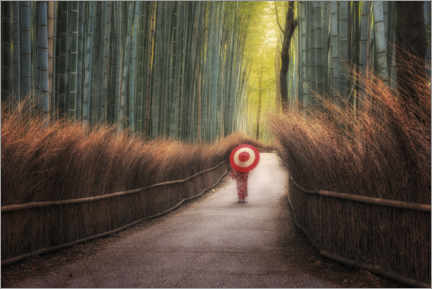 Wall sticker  Japanese woman in the bamboo forest - André Wandrei