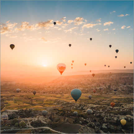 Canvas print  Balloon Flight at Sunrise over Cappadocia - Marcel Gross