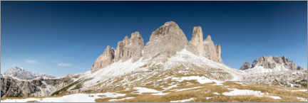Premium poster Panorama of the Three Peaks in the Dolomites, Italy