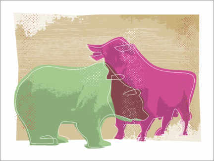 Canvas print  Bull and bear - Thomas Marutschke