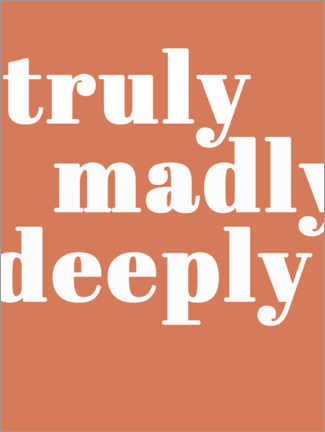 Premium poster Truly madly deeply