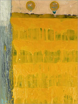 Canvas print  Two points with yellow - MASCH ART