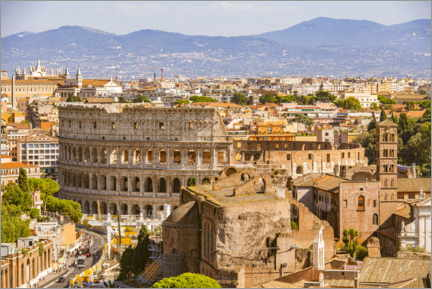 Wall sticker  Colosseum and Roman Forum in Rome - HADYPHOTO