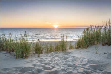 Acrylic print  Sunset on the dune beach - Jan Christopher Becke