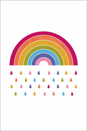 Canvas print  Colourful rainbow rain - Jaysanstudio
