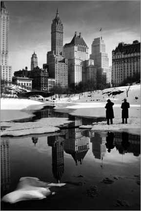 Wall sticker Winter in Central Park 1933