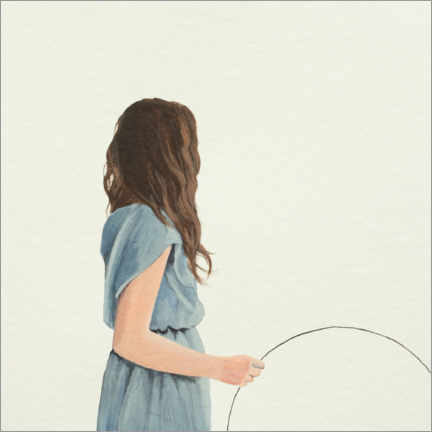 Foam board print  Young woman with circle - Karoline Kroiss