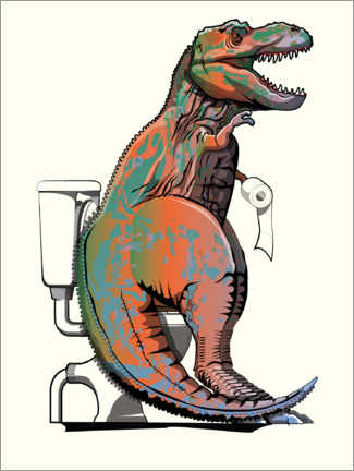 Canvas print  T-rex toilet - Wyatt9
