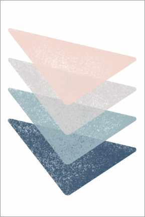 Premium poster  Four triangular shapes - Sasha Lend