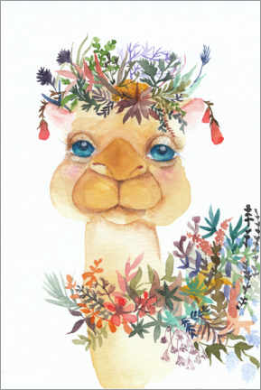 Premium poster Camel with flowers