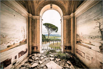 Acrylic print  View from a derelict villa in Italy - Irnmonkey