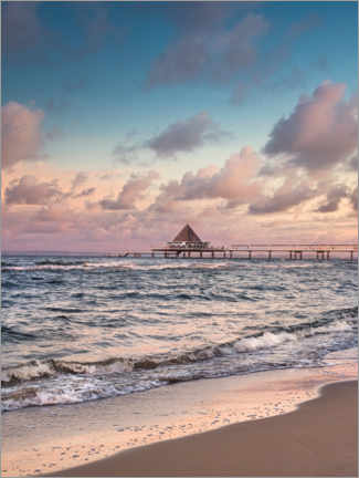 Premium poster  Heringsdorf Insel Usedom and the pier - Sven Hilscher
