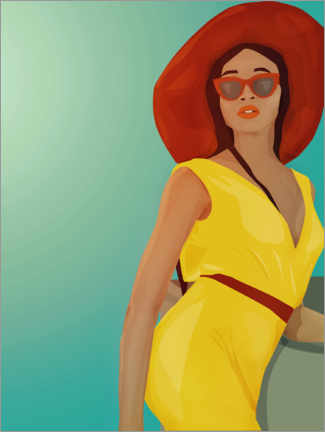Gallery print  The Yellow Jumpsuit - Sybille Sterk