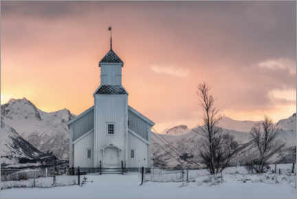 Gallery print  Church for winter morning - André Wandrei