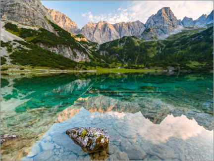 Gallery print  Reflection in the Seebensee - Denis Feiner