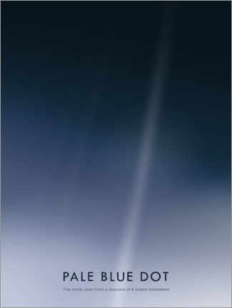 Premium poster  Pale Blue Dot - Art Couture