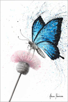 Premium poster Butterfly and dandelion