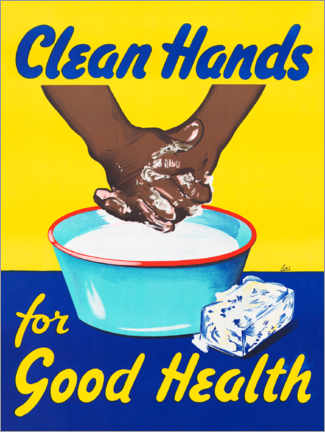Canvas print  Clean hands for good health - Advertising Collection