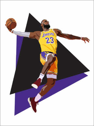 Canvas print  Lebron James - Anna McKay