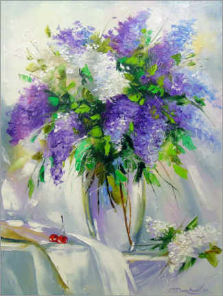 Premium poster Bouquet of lilac in a vase