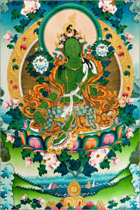 Canvas print  Shyama Tara or Green Tara