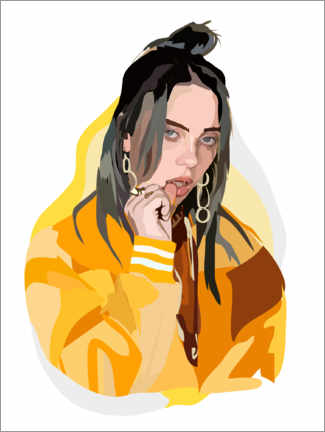 Canvas print  Billie Eilish - Anna McKay