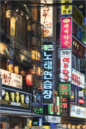 Gallery print  Nightlife in Seoul - Jan Christopher Becke